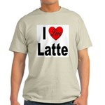 I Love Latte Ash Grey T-Shirt