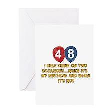 48 year old birthday designs Greeting Card