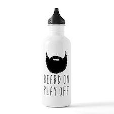 Beard On Play Off Playoff Beard Water Bottle