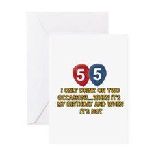55 year old birthday designs Greeting Card