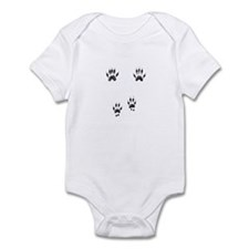 Gray Squirrel Tracks Infant Bodysuit