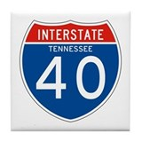 Interstate 40 - TN Tile Coaster