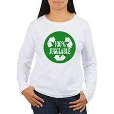 100% Jugglable (Green) Long Sleeve T-Shirt