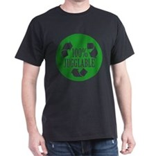 100% Jugglable (Green) T-Shirt