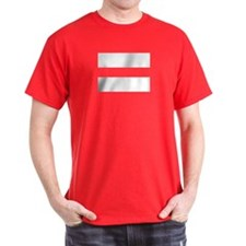 White Equal Sign T-Shirt