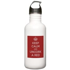 Keep Calm and uncork a red Water Bottle