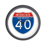 Interstate 90 - WY Wall Clock