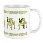 Brown Bulldog Mug With Brown Border