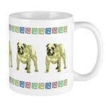 Brown Bulldog Mug With Border