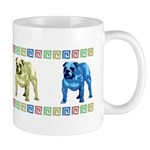 4 Color Bulldog Mug With Border