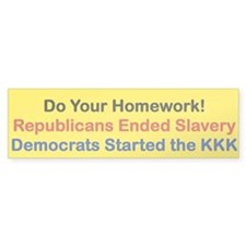 DO YOUR HOMEWORK Bumper Car Sticker
