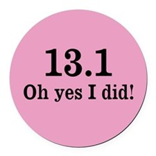 Cute 13.1 Round Car Magnet