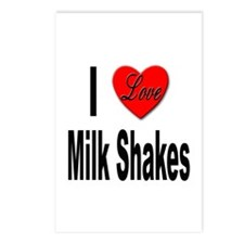 I Love Milk Shakes Postcards (Package of 8)
