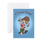 I Pooped Today! -f Greeting Cards (Pk of 10)