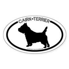 """ Cairn Terrier"" White Oval Decal"