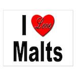 I Love Malts Small Poster