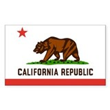 Flag of California Rectangle Bumper Stickers