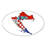 Flag Map of Croatia Decal