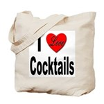 I Love Cocktails Tote Bag