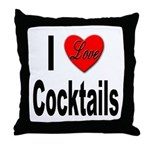 I Love Cocktails Throw Pillow