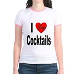 I Love Cocktails (Front) Jr. Ringer T-Shirt