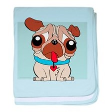 Pug I Didnt Do It baby blanket