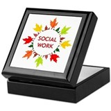 Autumn Social Work Keepsake Box