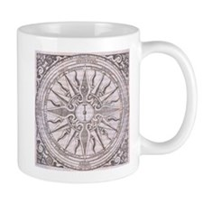 Medieval artwork compass rose Mug