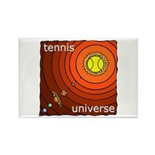 Tennis Universe Rectangle Magnet