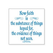 "Hebrews 11 1 Scripture Square Sticker 3"" x 3"""