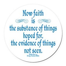 Hebrews 11 1 Scripture Round Car Magnet