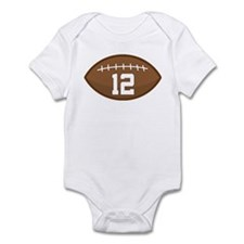 Football Player Number 12 Infant Bodysuit
