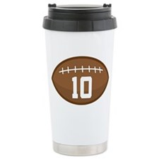 Football Player Number 10 Ceramic Travel Mug