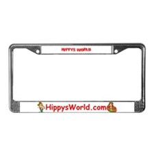 Cute Hippy License Plate Frame