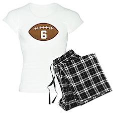 Football Player Number 6 Pajamas