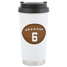 Football Player Number 6 Ceramic Travel Mug