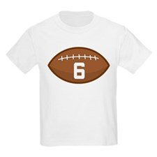 Football Player Number 6 T-Shirt