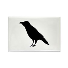 Crow Raven Rectangle Magnet (100 pack)