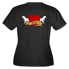 2-sided Dark Shirt Women's Plus Size V-Neck Dark T