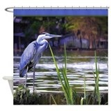 Blue Heron Sketch Shower Curtain