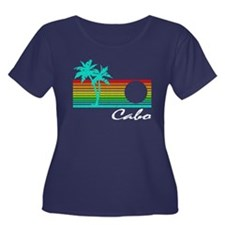 Cabo Vintage Distressed Design Plus Size T-Shirt