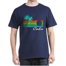 Cabo Vintage Distressed Design T-Shirt