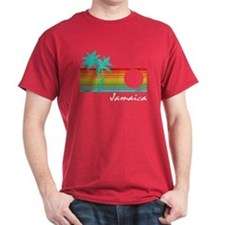 Jamaica Vintage Distressed Design T-Shirt