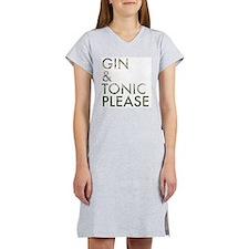 gin tonic please Women's Nightshirt
