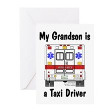 Taxi Driver Grandson Greeting Cards (Pk of 10)