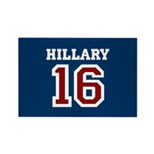 Hillary Sports Jersey Rectangle Magnet
