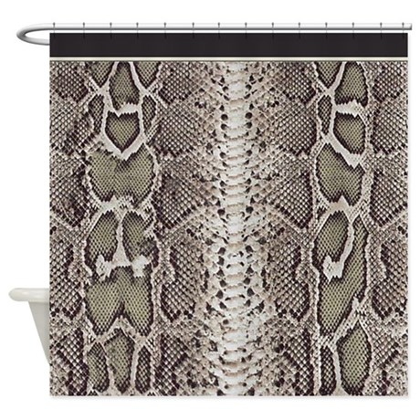 gifts africa bathroom d cor snakeskin animal print shower curtain