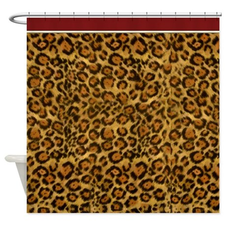 graphic jaguar animal print shower curtain by