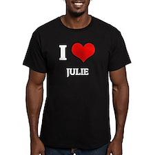 I Love Julie Black T-Shirt