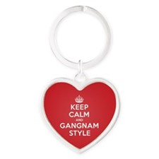 Keep Calm Gangnam Keychains